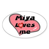 miya loves me Oval Decal
