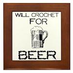 Will Crochet for Beer Framed Tile