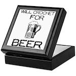 Will Crochet for Beer Keepsake Box