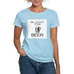 Will Crochet for Beer Women's Light T-Shirt