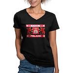 Radom Women's V-Neck Dark T-Shirt