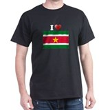 I love Suriname Flag T-Shirt