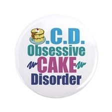 "Cute Cake 3.5"" Button"
