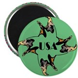 USA Four Eagles Magnet