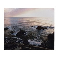 Sunset over ocean, Garrapata State P Throw Blanket