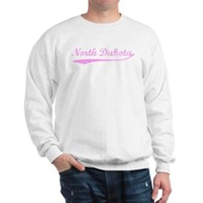 Vintage North Dakota (Pink) Sweatshirt