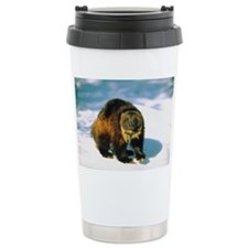 Wolverine in winter Ceramic Travel Mug
