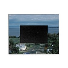 Farmland near coast, Charlevoix, Can Picture Frame