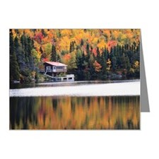 Lakeside cabin in Autumn for Note Cards (Pk of 10)