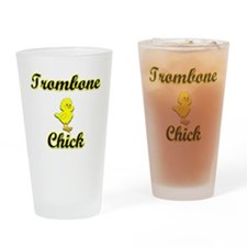 Trombone Chick Drinking Glass
