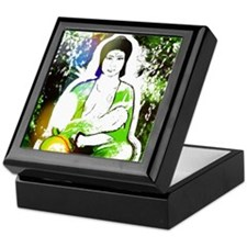 Green Quan Yin Keepsake Box