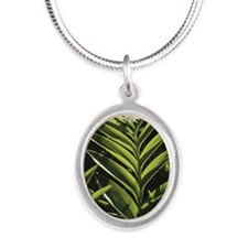 Plants and flowers, Salomons  Silver Oval Necklace