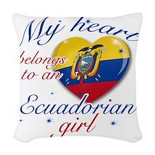 ecuadorain.girl Woven Throw Pillow