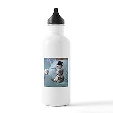 Soccer Christmas Snowman Water Bottle