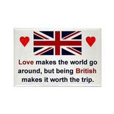 British Love Rectangle Magnet