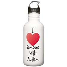 I love someone with au Water Bottle