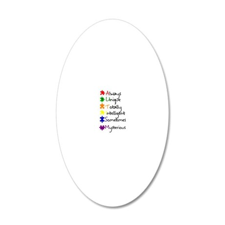 Autism Means 20x12 Oval Wall Decal