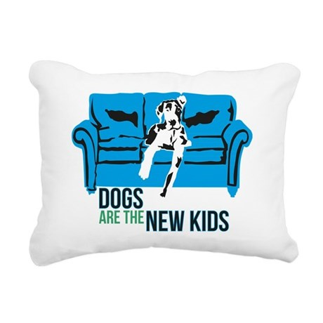 Dogs or KIDS Rectangular Canvas Pillow