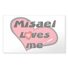 misael loves me Rectangle Decal