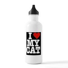 HeartCatipadSleeve Water Bottle