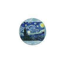 van gogh starry night SC1 Mini Button
