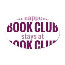 bookclubpur Oval Car Magnet