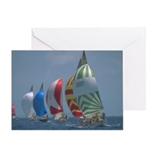 Sailboats Greeting Card