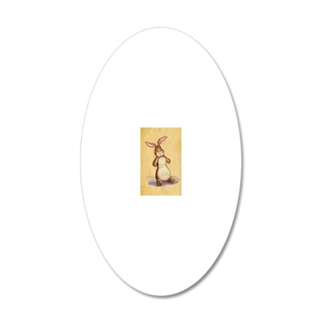 Velvet-Rabbit 8 20x12 Oval Wall Decal