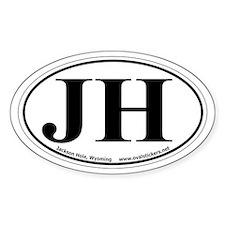 "Jackson Hole, Wyoming Oval ""JH"" Car Decal"