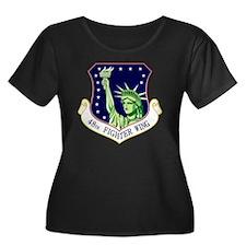 48th FW Women's Plus Size Dark Scoop Neck T-Shirt