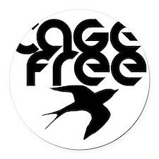cagefree2 Round Car Magnet
