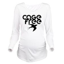 cagefree2 Long Sleeve Maternity T-Shirt