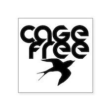 "cagefree2 Square Sticker 3"" x 3"""