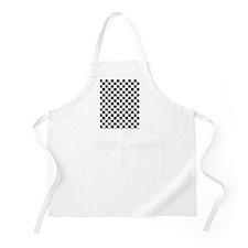 black checkered board Apron