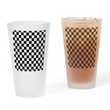 black checkered board Drinking Glass