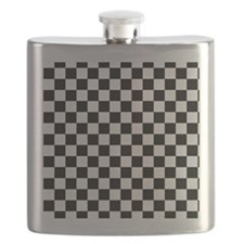 black checkered board Flask