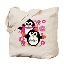 Personalized Hip Penguins Tote Bag