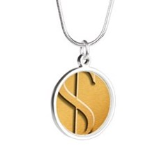 Dollar Silver Round Necklace