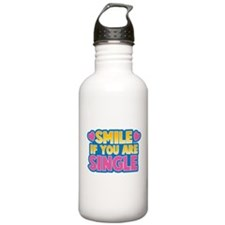 SMILE if you are single! Sports Water Bottle