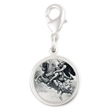 newcard liberating retirement Silver Round Charm