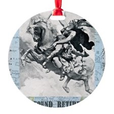 newcard liberating retirement Round Ornament