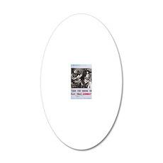 newCard sudoku 20x12 Oval Wall Decal