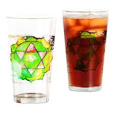 heart chakra shirt Drinking Glass