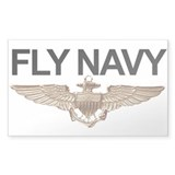 FLY NAVY Rectangle Decal