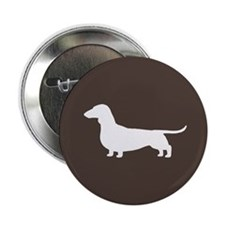 "Dachshund Silhouette 2.25"" Button (10 pack)"
