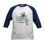 Big Sister (Kitty) Kids Baseball Jersey