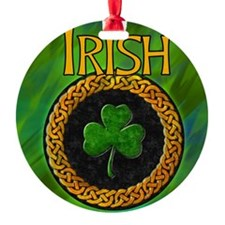CELTIC-IRISH-SHAMROCK-shower_curtai Ornament