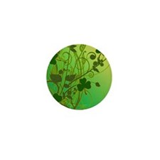 IRISH-SHAMROCK-FILLIGREE-shower_curtai Mini Button