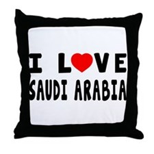 I Love Saudi Arabia Throw Pillow