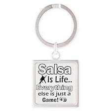 salsa Square Keychain